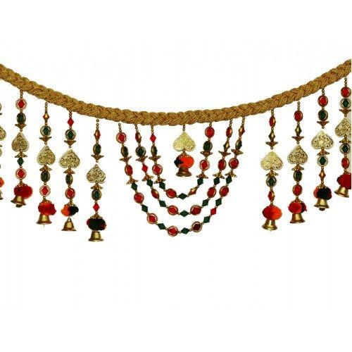 Door Hangings  Traditional Bandhanwar Door Hanging - Layered  sc 1 st  Pinterest & Traditional Bandhanwar Door Hanging - Layered   Door hangings ...
