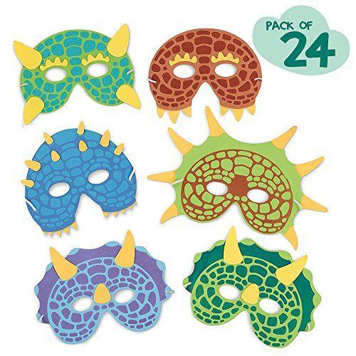 Dinosaur Birthday Party Supplies: 24 Dinosaur Party Masks...