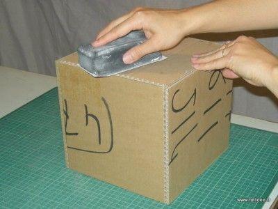 Tutoriel Boîte en Carton - Kraftage (Partie 2) | Boite en carton, Tuto cartonnage, Boite de ...