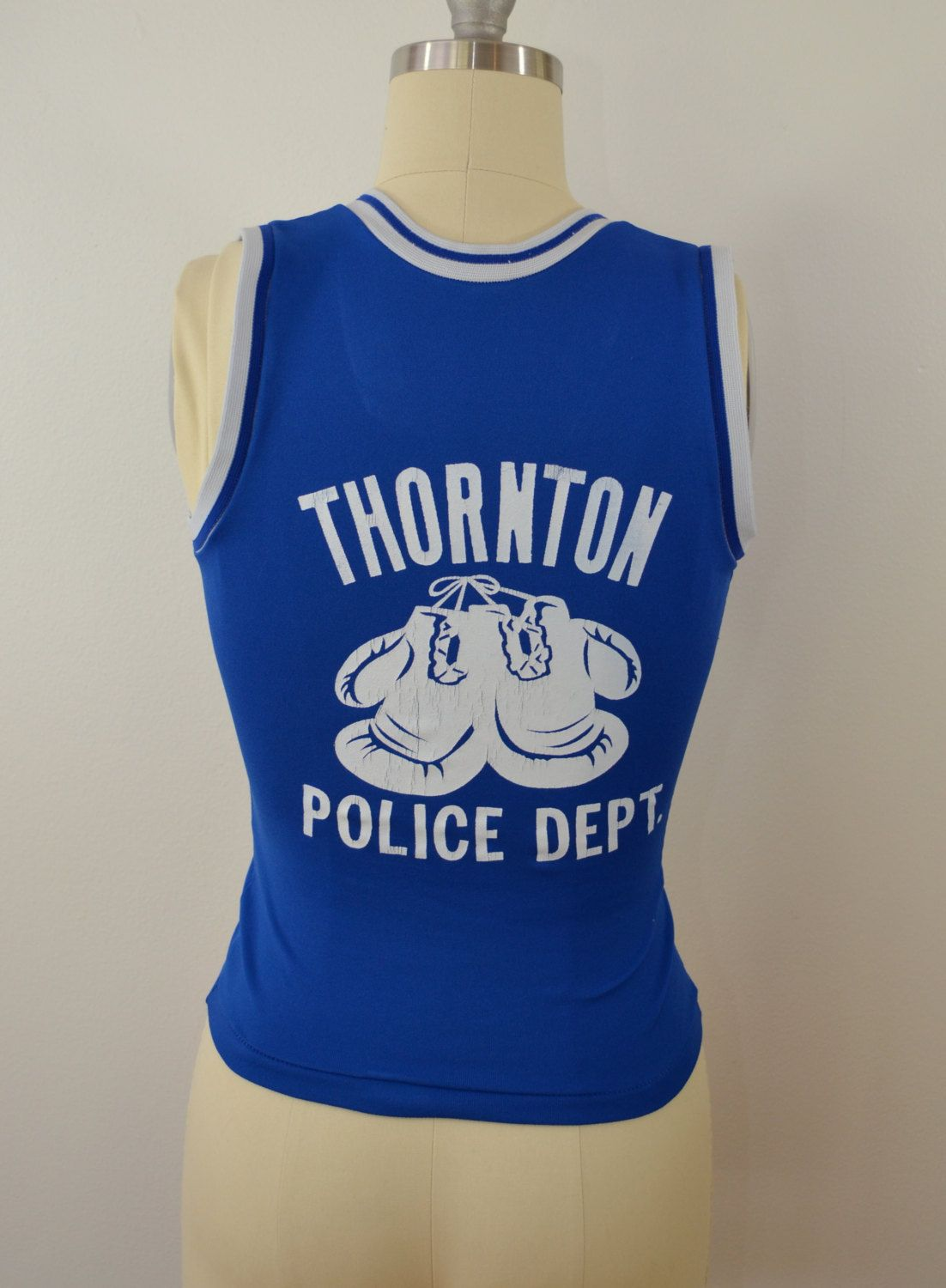 3aed5ef605739 Vintage THORNTON POLICE Department BOXING tank top Southern Athletic 1950 s  small by ilovevintagestuff on Etsy