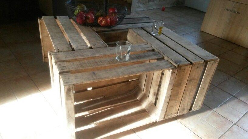 Table Basse En Caisse A Pomme Rejoignez Moi Sur Ma Page Facebook Decorecupbois Pour Mes Autres Creations Avec Table Basse En Caisse Caisse Pomme Table Basse