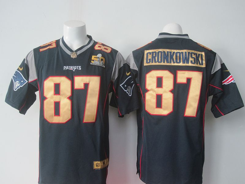 7d513aee0 NFL New England Patriots 87 Gronkowski blue 50th Nike 2016 jerseys ...