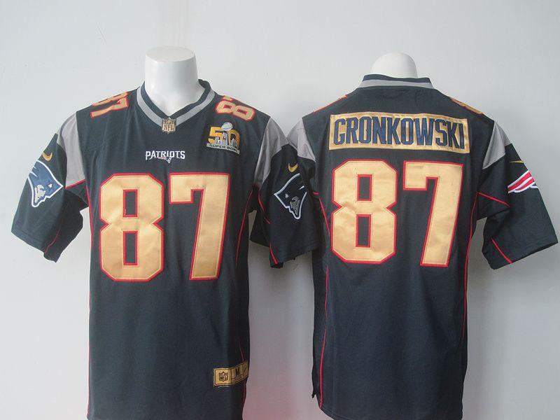 f6fc98e0b NFL New England Patriots 87 Gronkowski blue 50th Nike 2016 jerseys ...