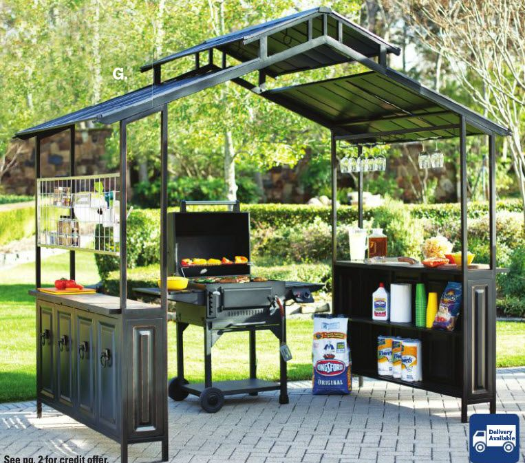 Large Grill Gazebo For Year Round Grilling And