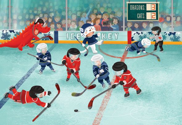 Hockey Game By Livia Coloji Picture Books Illustration Kids Sports Illustration