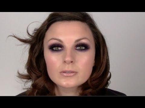 purple smoky eyeshadow great for green/hazel/brown eyes