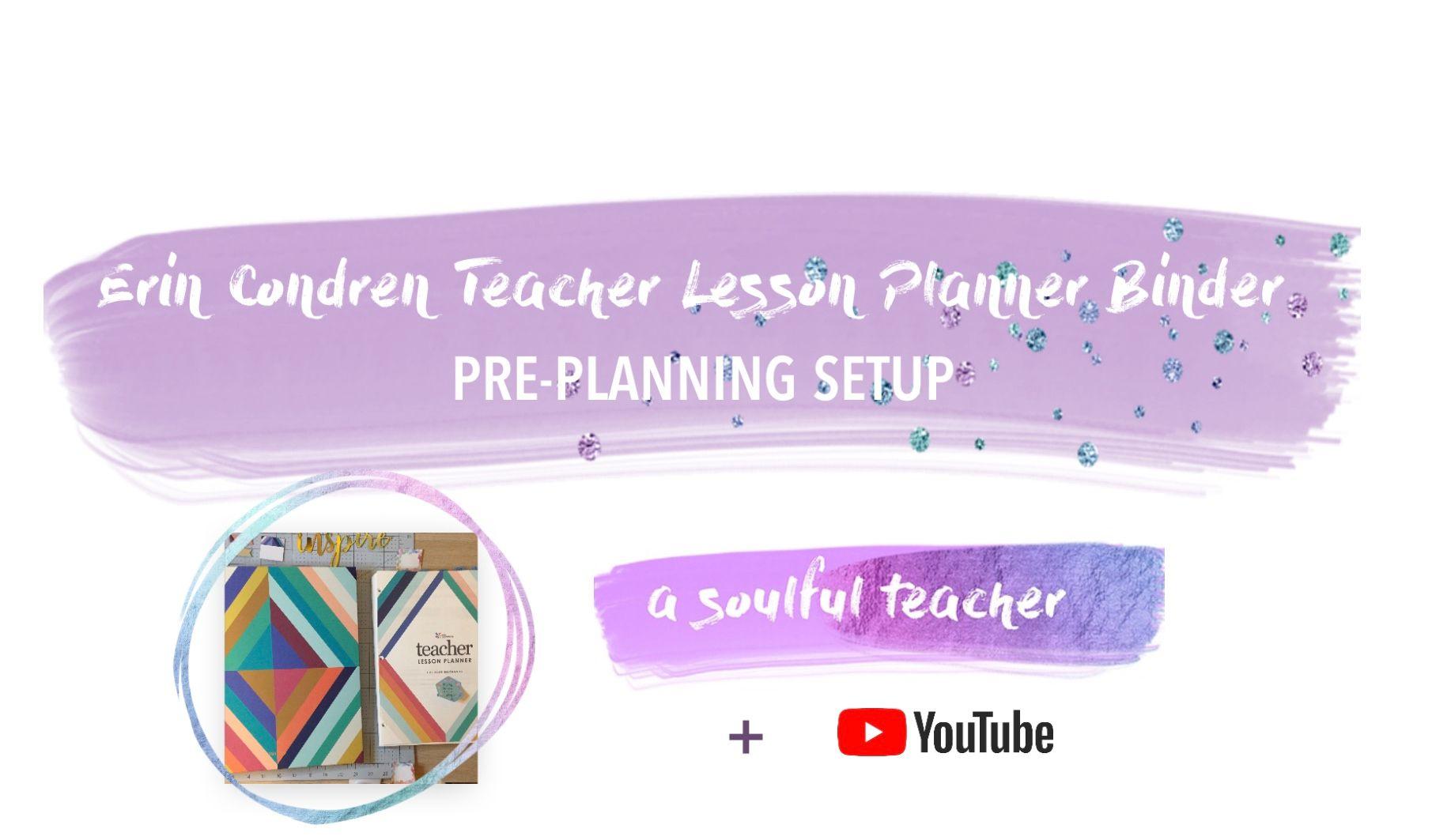 Pre Planner Setup W Free Worksheet Erin Condren Teacher