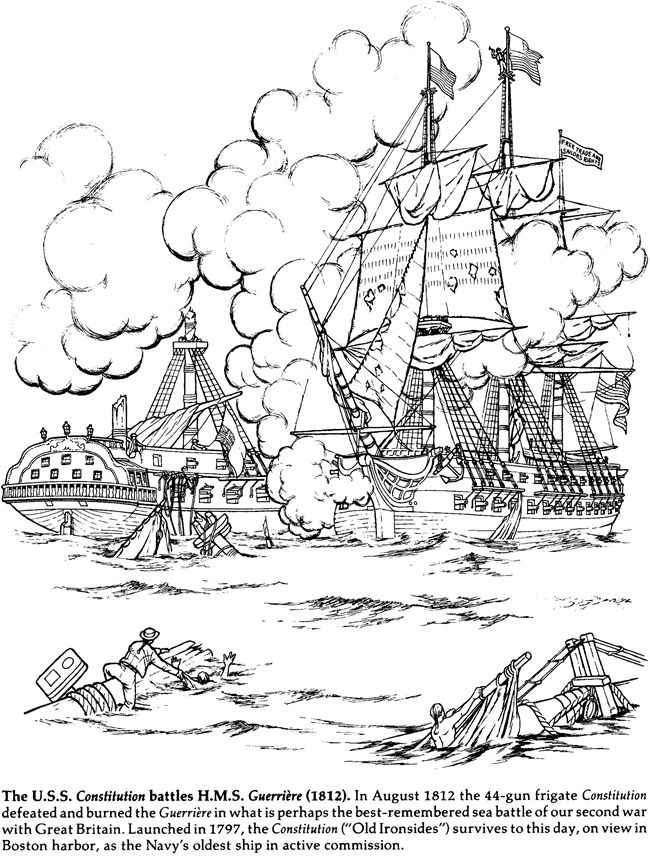Welcome To Dover Publications American Sailing Ships Coloring