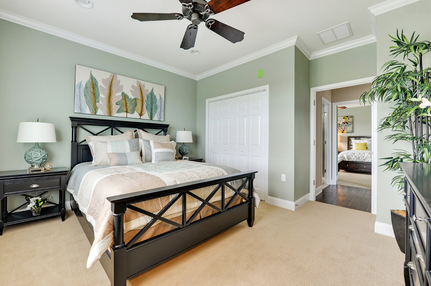 The Herring Point Guest Bedroom Light Green Bedrooms Green Master Bedroom Green Bedroom Walls