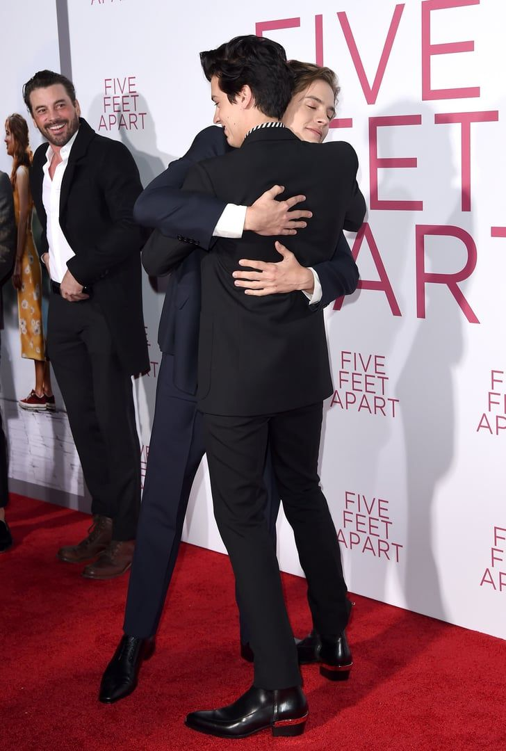 Cole and Dylan Sprouse Shared an Adorable Brotherly Moment at the Five Feet Apart Premiere