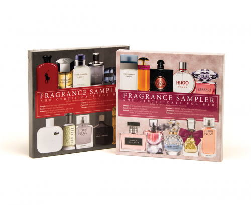 Fragrance Samplers and Certificates for Him and Her