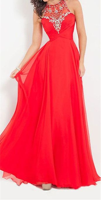 Long Red Dresses for Teenagers