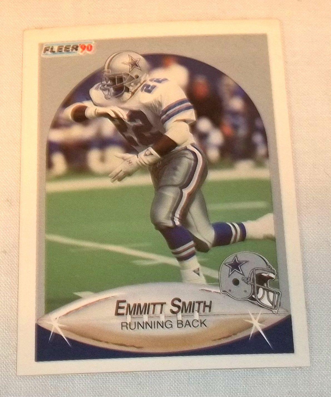 1990 fleer update emmitt smith rookie card dallas