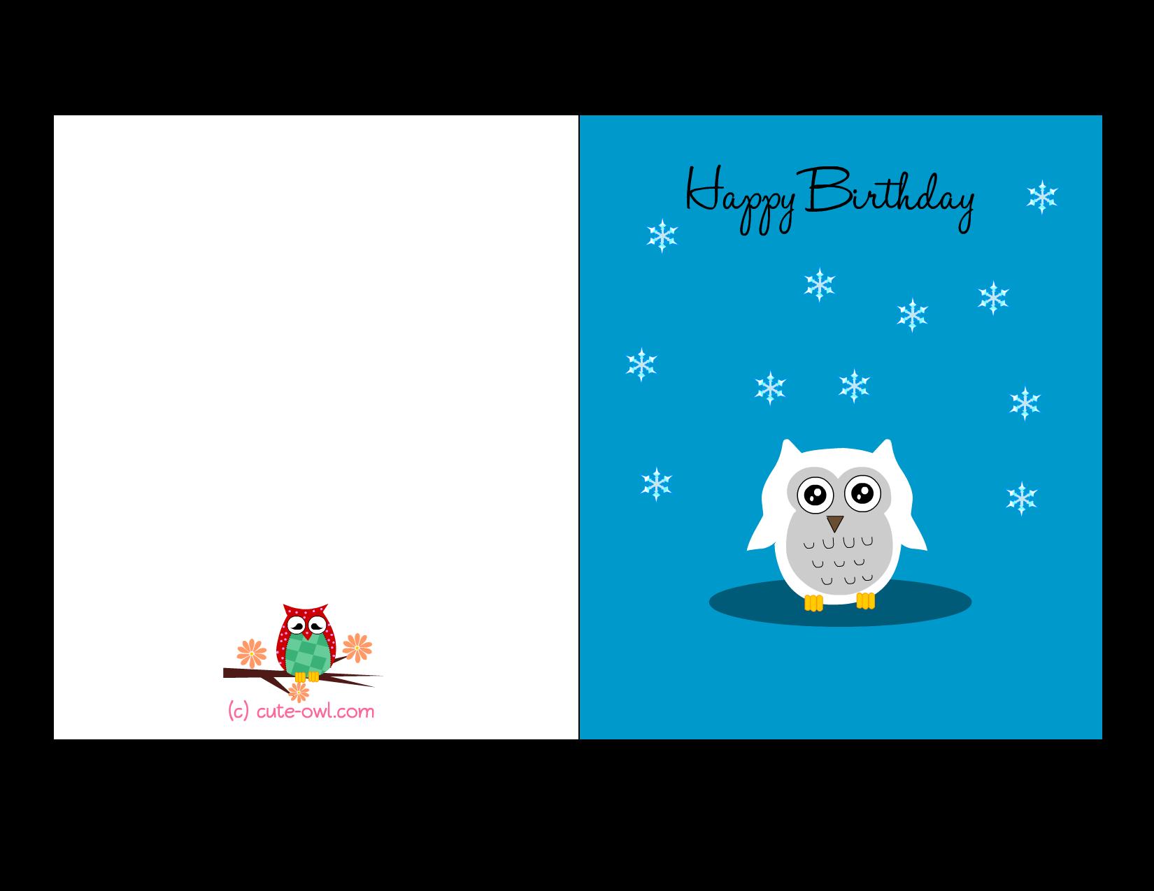owl-birthday-card-5.png (1650×1275) | Free printable owl stuff ...