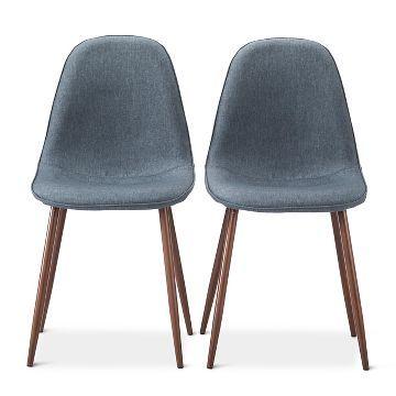 chaises de salle a manger chaises porter mid century modern dining chairs set of 2 target idees pour la