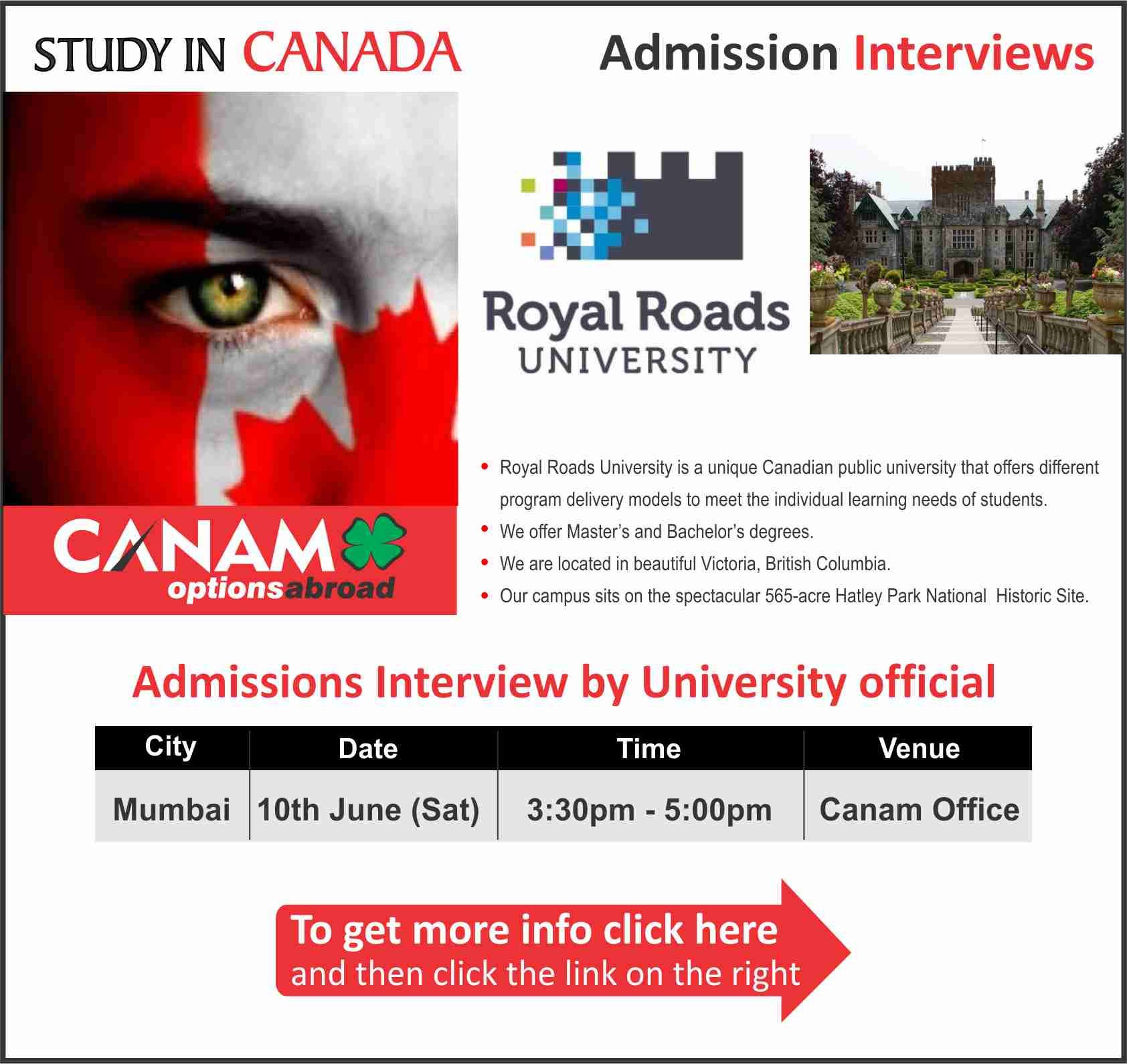 Study in Canada Royal Roads University. For complete