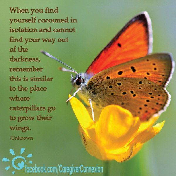 When you find yourself cocooned in isolation and cannot find your way out of the darkness, remember... pinned with @PinvolveLove