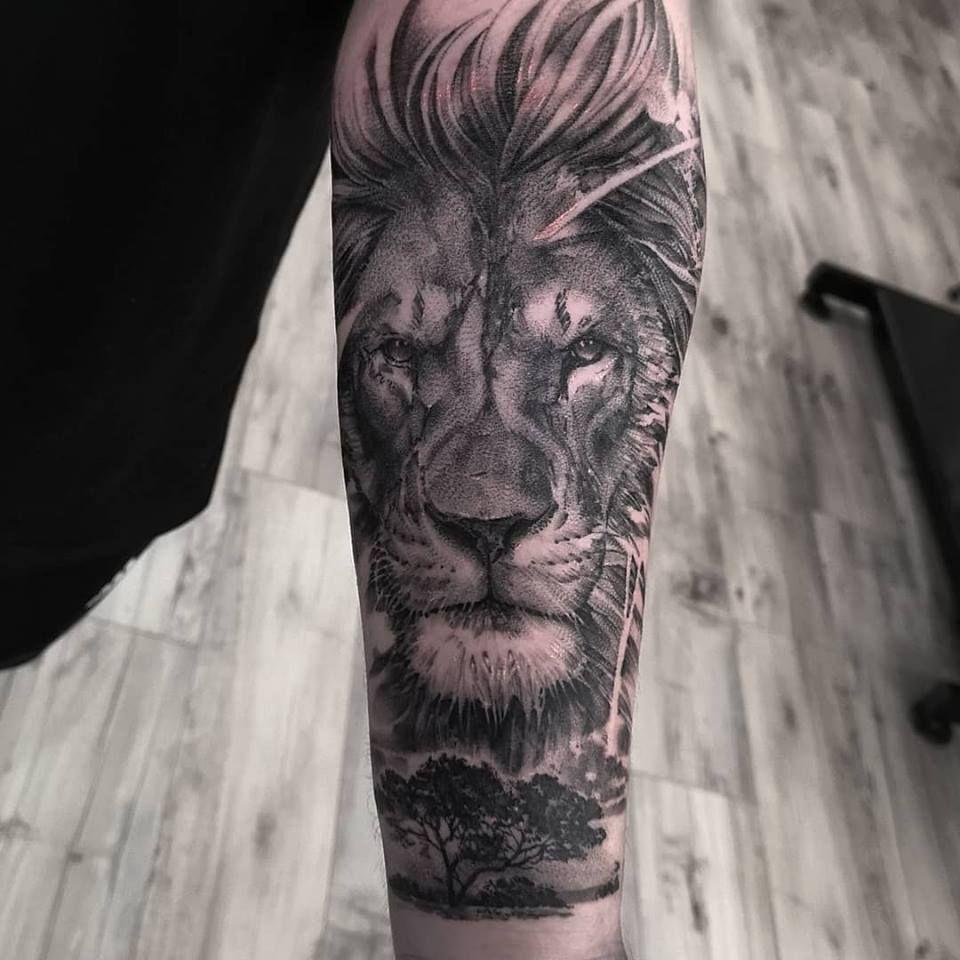 25045b5dc John H.Art (@johnhudic) • Instagram photos and videos. Black and Grey Lion  Sleeve Tattoo - Realistic ...