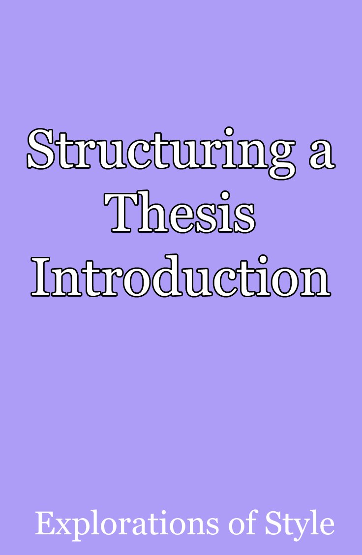 Structuring A Thesi Introduction Writing Thesis How To Write An Autoethnography Dissertation