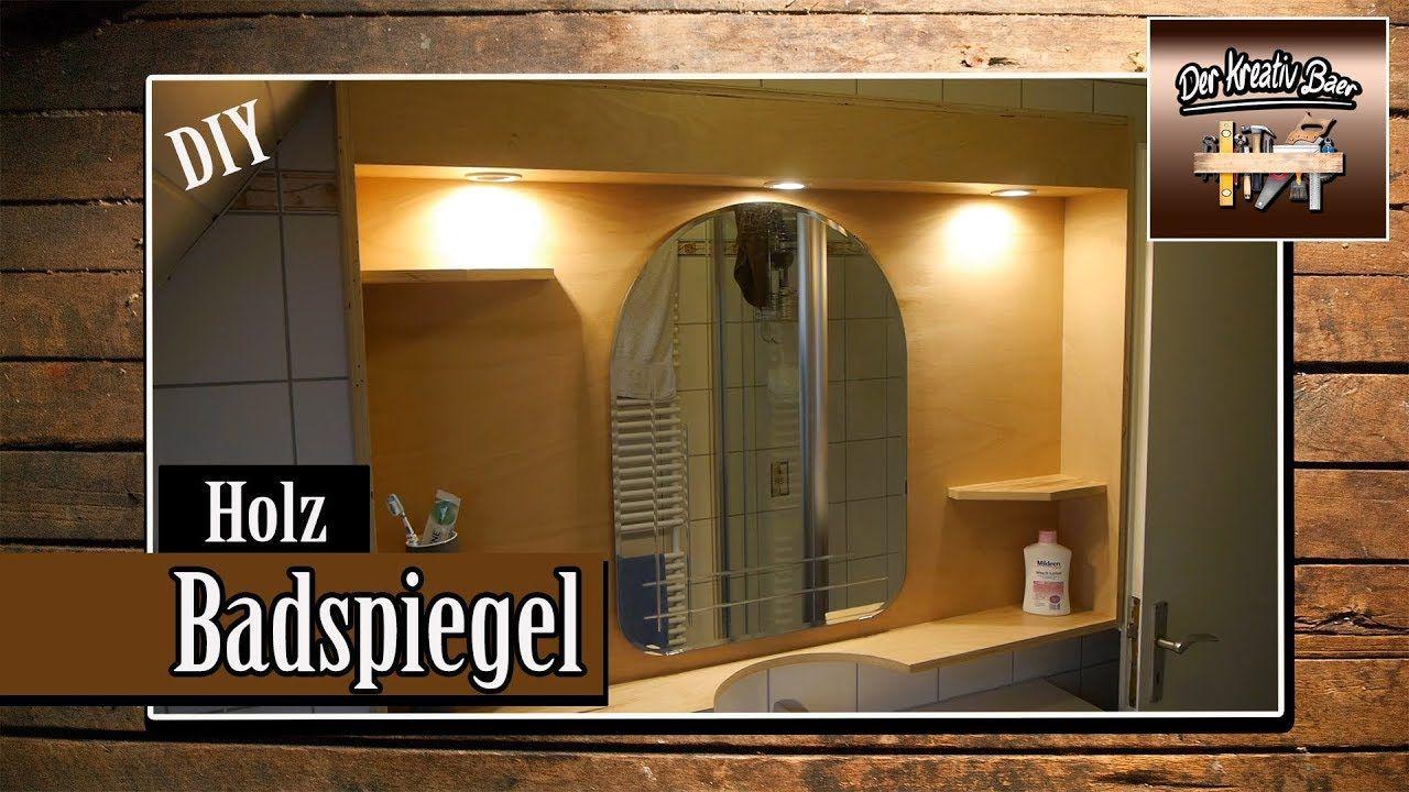 Holz Badspiegel Badezimmerspiegel Diy Youtube