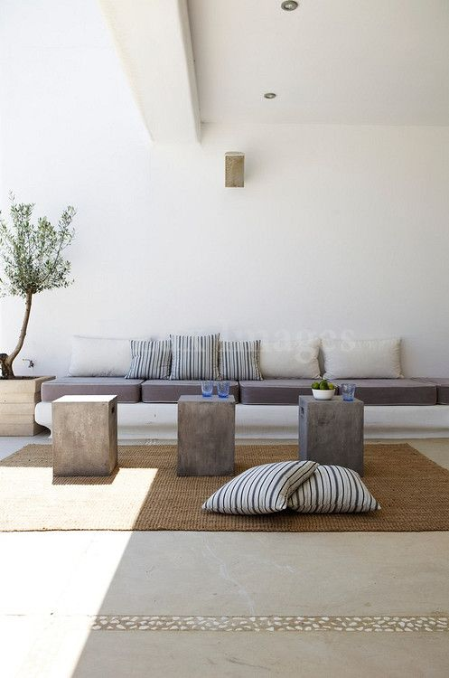 Cosy outdoor scene - Cushions and pillows for seating area - House decoration inspiration # ...