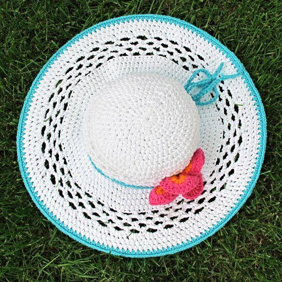 Sombrero del ganchillo patrón Aloha un borde ancho por TheHatandI ...