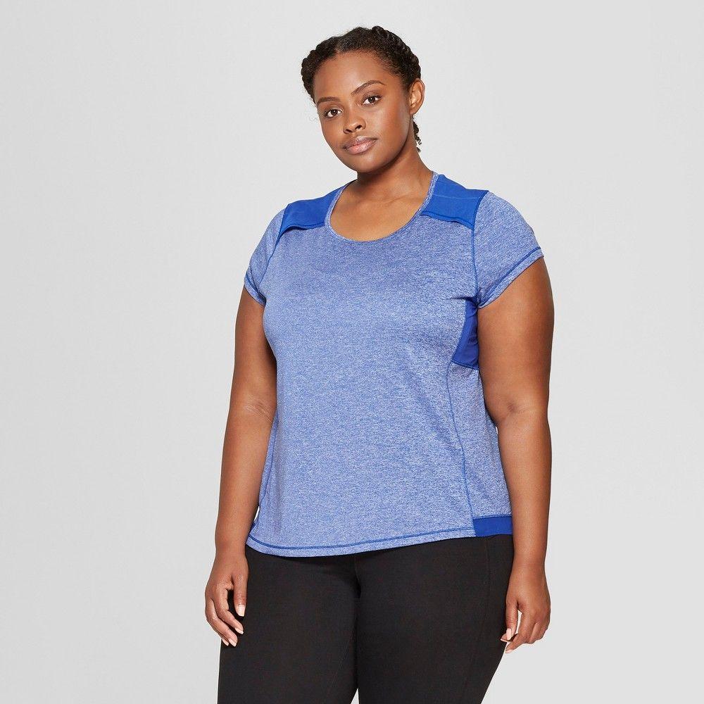 20fe7e0f7540 Women s Plus Size Short Sleeve Run T-Shirt - C9 Champion Cobalt Blue Heather  3X