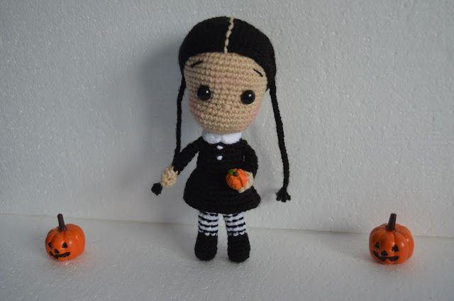 halloween amigurumi crochet ganchillo wednesday adams míercoles ...