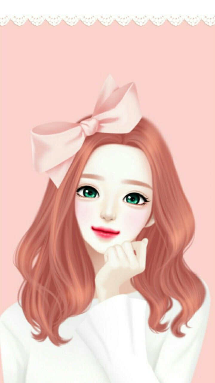 Enakei enakei art girl illustration girl cute girl - Cartoon girl wallpaper ...