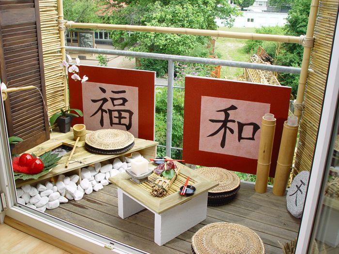 Balkon Asiatisch Gestalten diy minibalkon im stil outdoor stil