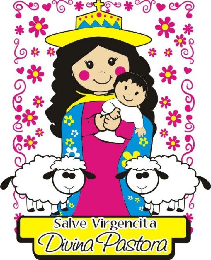 Salve Divina Pastora Art Madonna And Child Drawings