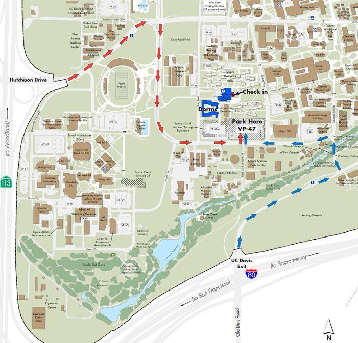 UC Davis Map - directions to UC Davis campus | PARKING ... Uc Davis Campus Map