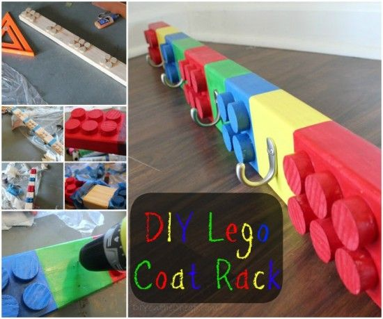 How To Make A Fabulous DIY LEGO Room Legos Pinterest Lego Beauteous Lego Coat Rack