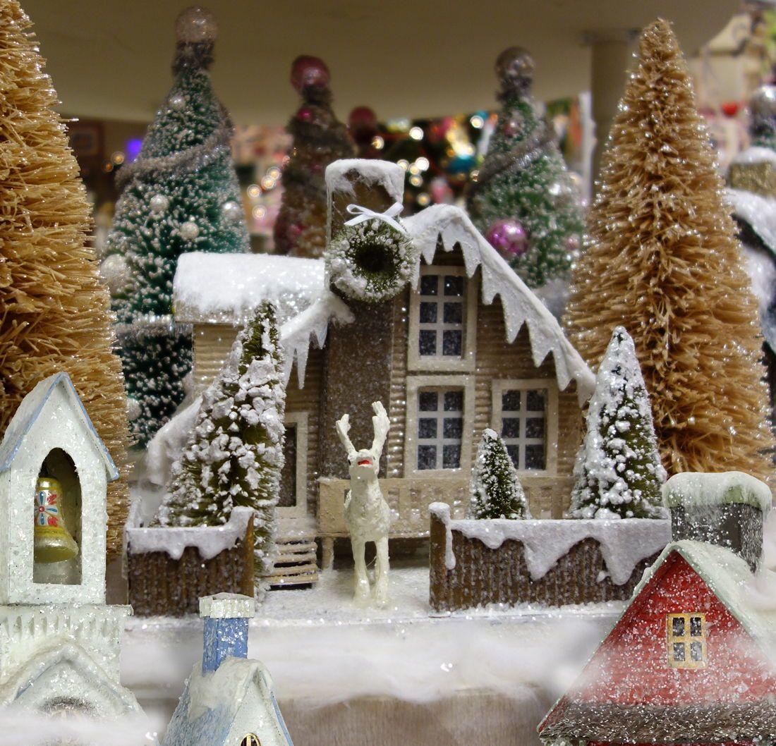 Vintage Christmas Village Houses Christmas Village Houses Christmas Outdoor Christmas Decorations