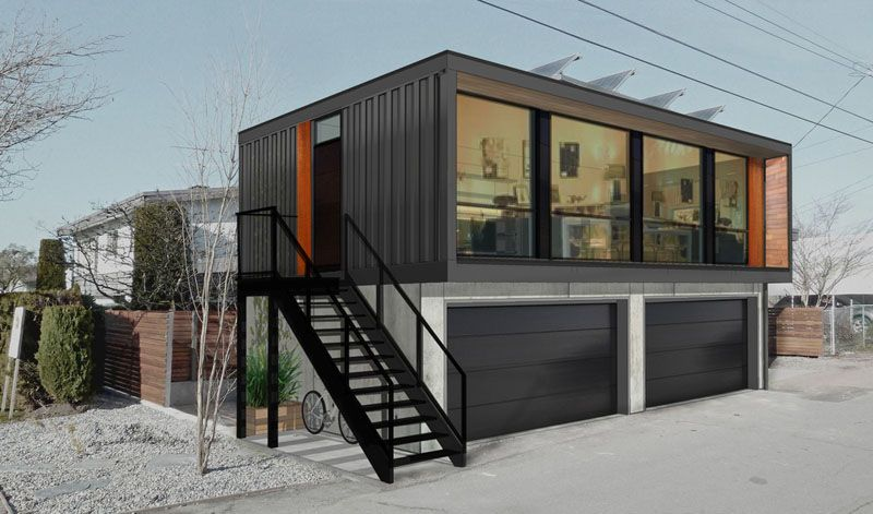 Honomobo Create Shipping Container Homes Above Garages Prefab
