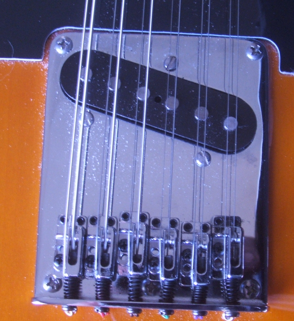 12 String Tele Build Bridge Placement Telecaster Guitar Forum