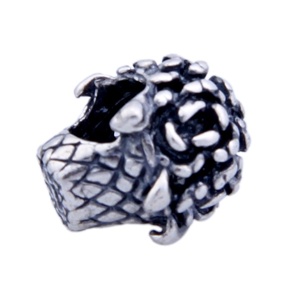 12x10x5.3mm Silver Hollow Skeleton Head 925 Sterling Silver European Charms Beads Fits Bracelet