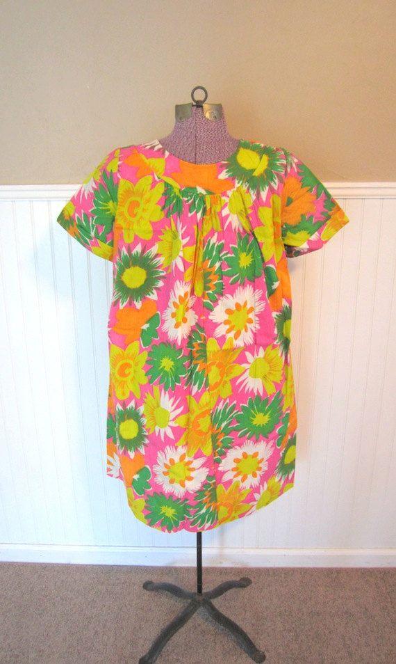 Vintage 60s Hawaiian Muumuu - One Size - Plus Size. $35.00, via Etsy ...