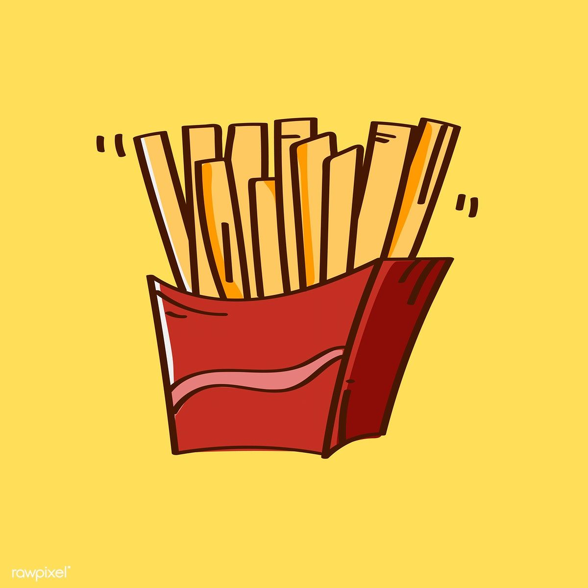 Hand Drawn French Fries Vector Free Image By Rawpixel Com How To Draw Hands Vector Free Stock Images Free