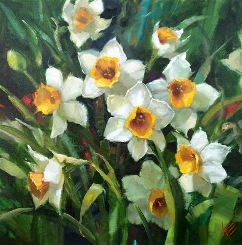 "Daily Paintworks - ""Springtime Memories"" - Original Fine Art for Sale - © Krista Eaton"