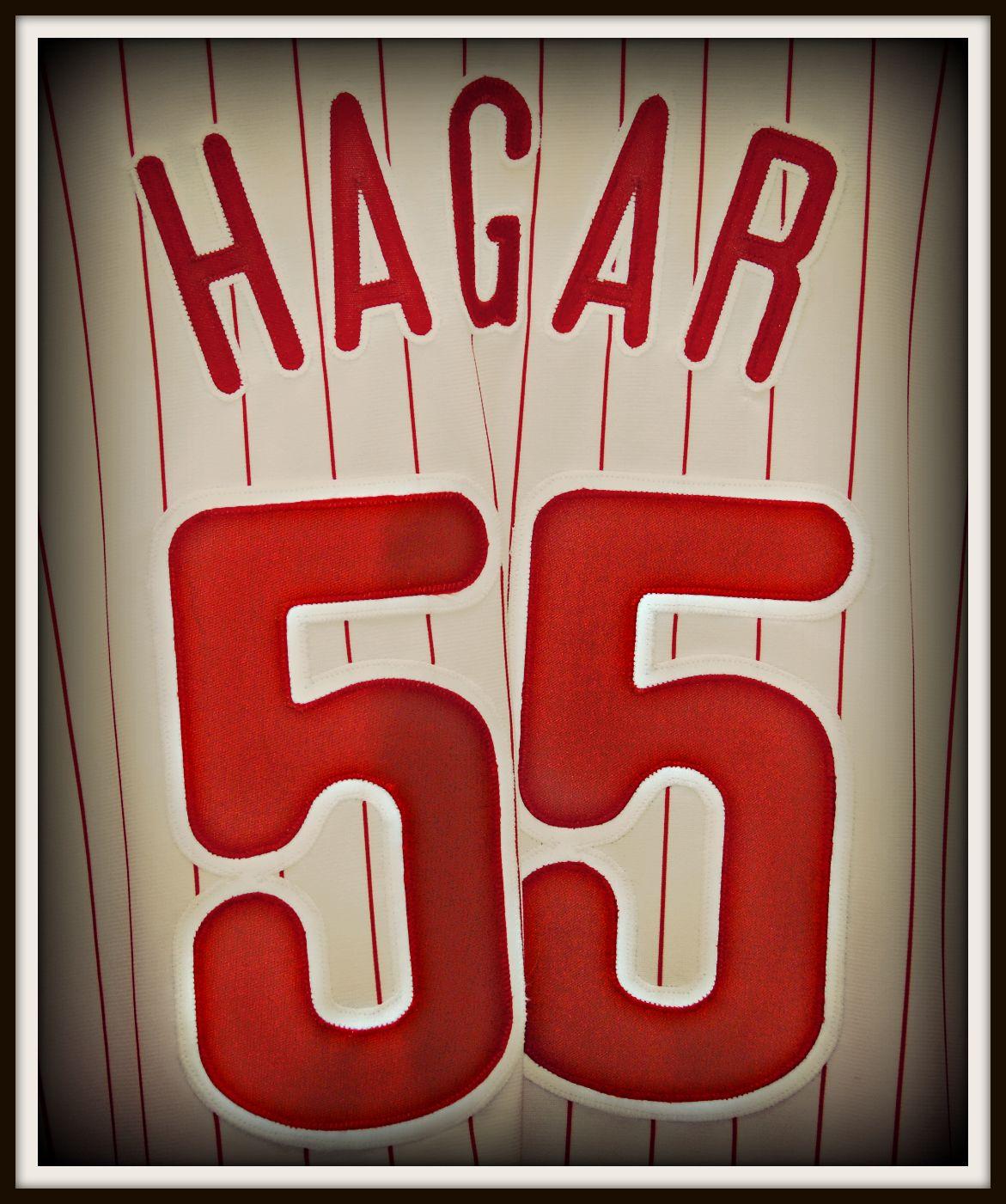 Sammy Hagar Phillies 55 Jersey Sammy Hagar Red Rocker Van Halen