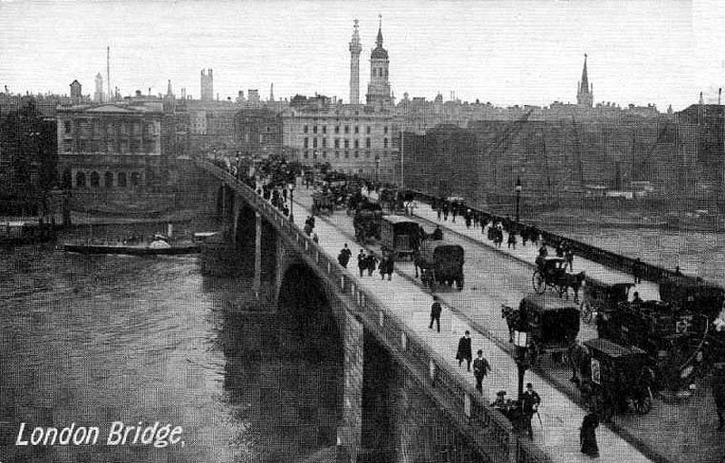 The Old London Bridge 2nd Bridge Now Sold And Moved To Lake Havasu Az Vintage London London Old Photos
