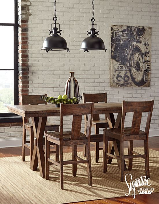 Ashley Furniture Dining Room Table Set: Walnord Dining Room Set - Ashley Furniture