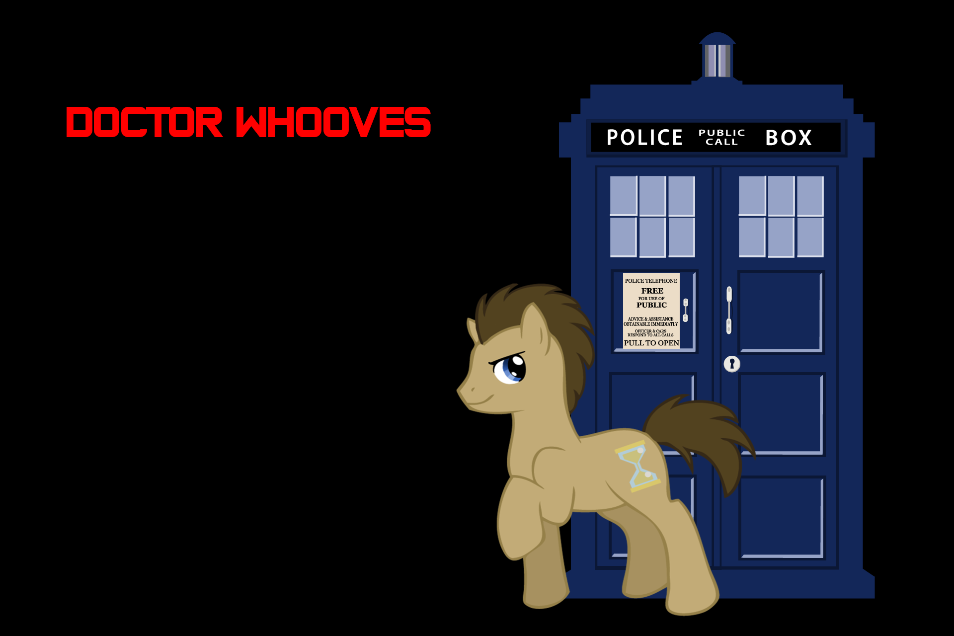 MLP: Doctor Whooves Wallpaper by BloodGulchPony on DeviantArt