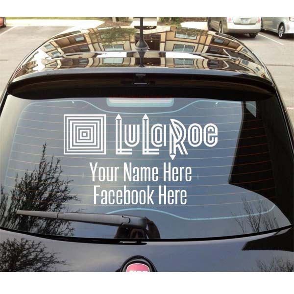 Lularoe fashion consultant car decals advertise your business now lularoe howiroe