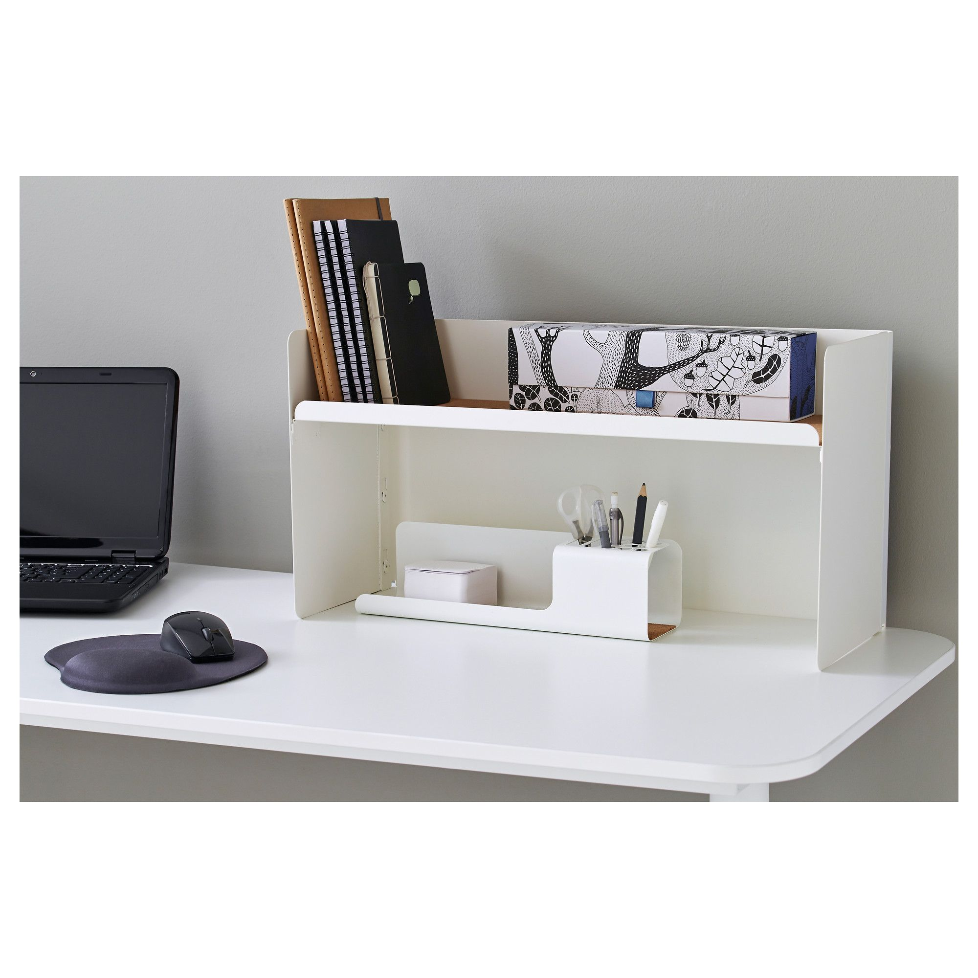 IKEA BEKANT desk top shelf