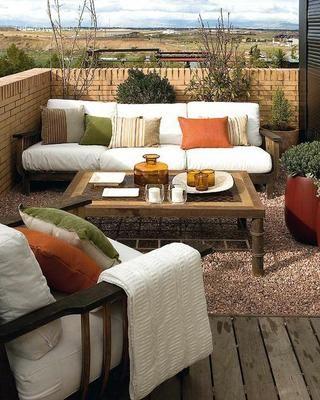 Ideas de sala para terrazas decoraci n hogar pinterest for Ideas para terrazas exteriores