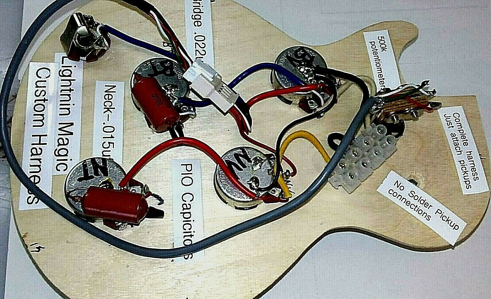 Solderless Installation Wiring Harness For Your Imported Lp Sg Or Dot Style Axe Ebay Harness Epiphone Sg Dots