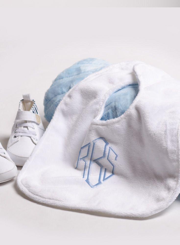 Veeshee's monogrammed baby bibs are a must! Create your own baby bib. #veeshee
