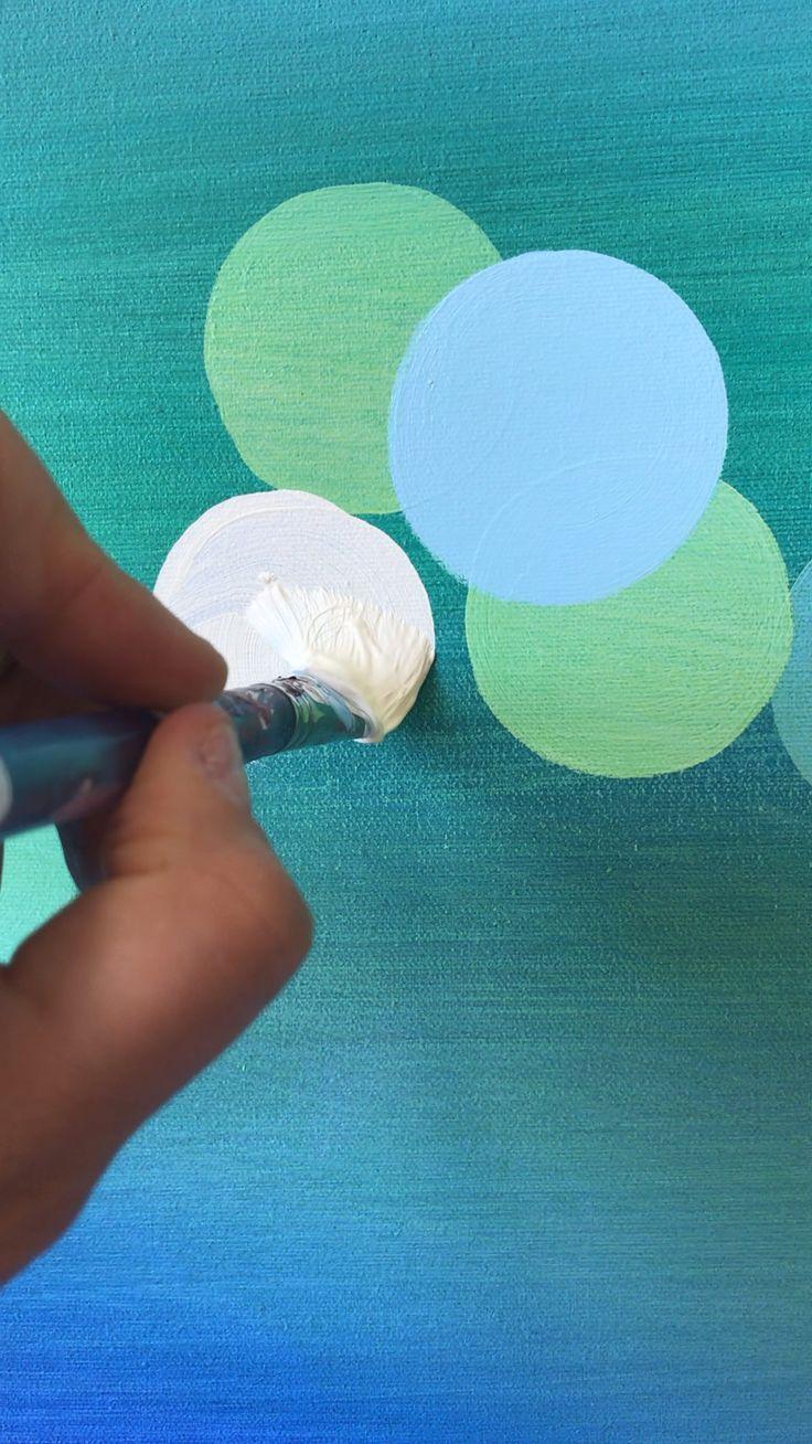 Painting Circles Akrilik Boyama Teknikleri Akrilik Sanati Ve